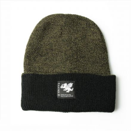 Senlak Heritage Beanie - Antique Green and Black